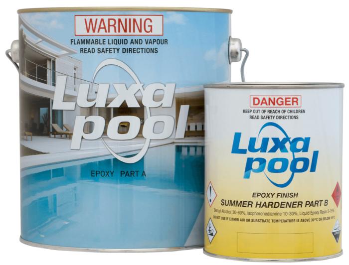 Luxapool epoxy pool paint